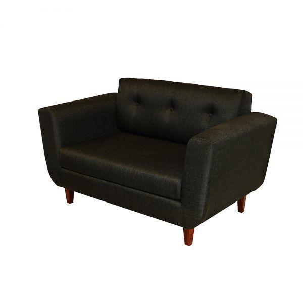 Living Agora Sofa 2 Cuerpos 2 Sitiales Gris Oscuro 3