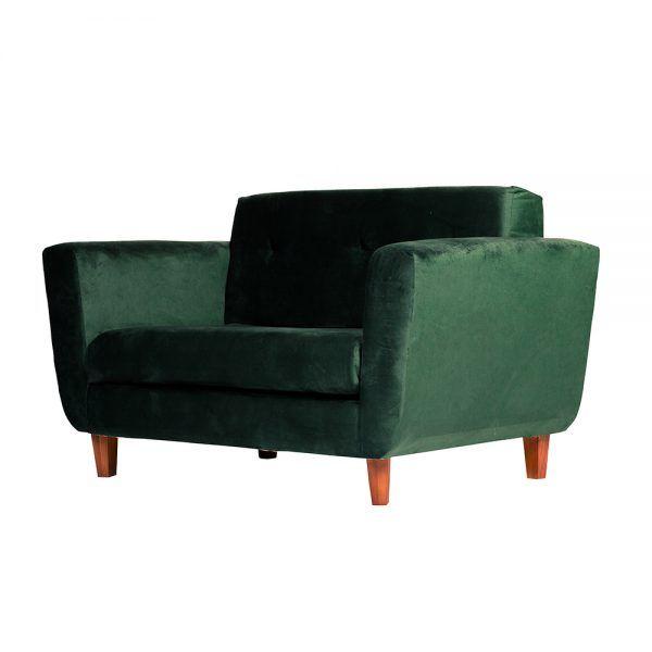 Living Agora Sofa 2 Cuerpos Sillones Verde 4