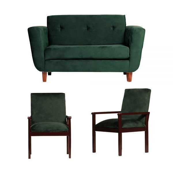 Living Agora Sofa 2 Cuerpos Sitiales Verde 1