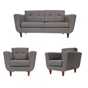 Living Agora Sofa 3 Cuerpos 2 Sillones Gris 1