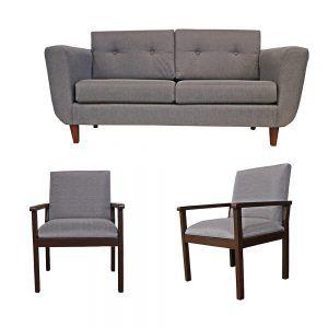 Living Agora Sofa 3 Cuerpos 2 Sitiales Gris 1