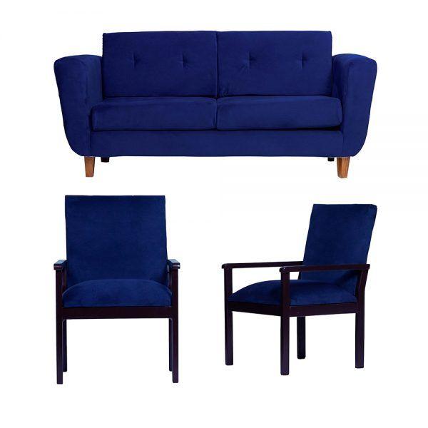 Living Agora Sofa 3 Cuerpos Sitiales Azul 1