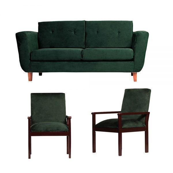 Living Agora Sofa 3 Cuerpos Sitiales Verde 1
