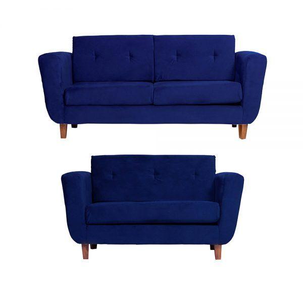 Living Agora Sofa 3 Cuerpos Sofa 2 Cuerpos Azul 1