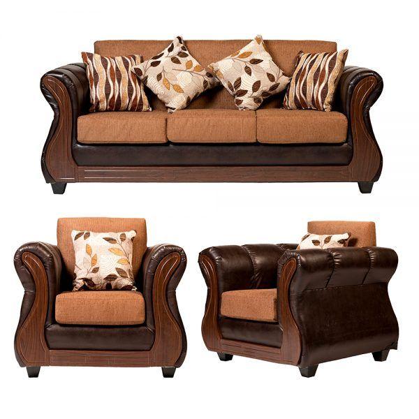 Living Albury Sofa 3 Cuerpos 2 Sillones Cafe 1