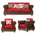 Living Albury Sofa 3 Cuerpos 2 Sillones Rojo 1