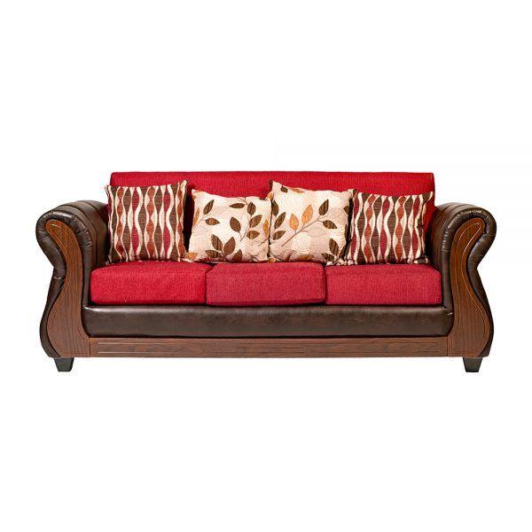 Living Albury Sofa 3 Cuerpos 2 Sillones Rojo 2
