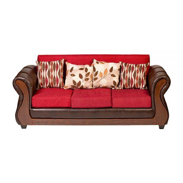 Living Albury Sofa 3 Cuerpos 2 Sillones Rojo 3