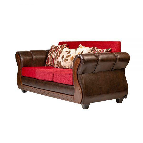 Living Albury Sofa 3 Cuerpos 2 Sillones Rojo 4