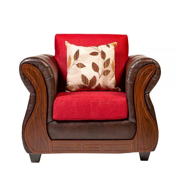 Living Albury Sofa 3 Cuerpos 2 Sillones Rojo 5
