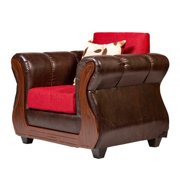 Living Albury Sofa 3 Cuerpos 2 Sillones Rojo 7