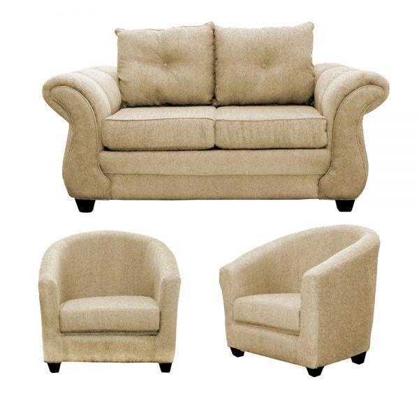Living Bertolucci Sofa 2 Cuerpos 2 Butacas Beige 1