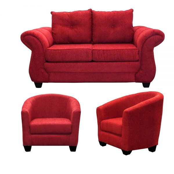 Living Bertolucci Sofa 2 Cuerpos 2 Butacas Rojo 1