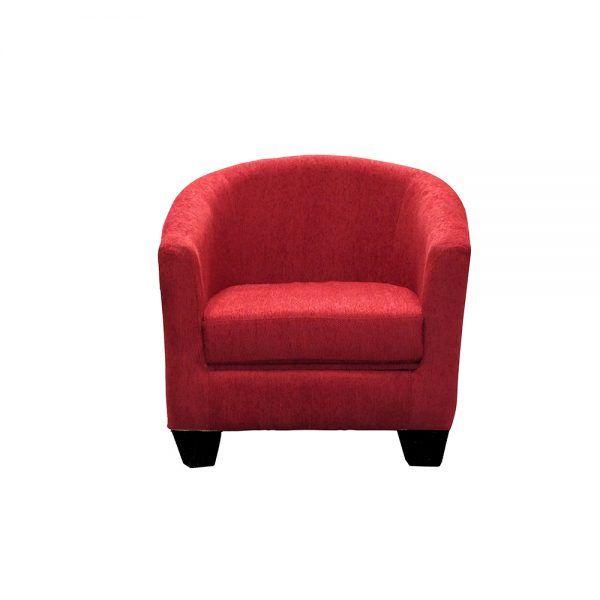 Living Bertolucci Sofa 2 Cuerpos 2 Butacas Rojo 4