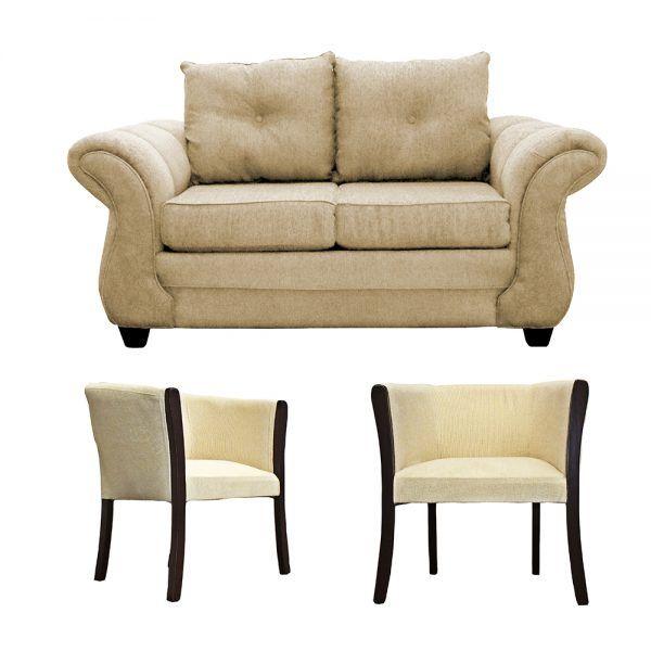 Living Bertolucci Sofa 2 Cuerpos 2 Poltronas Beige1