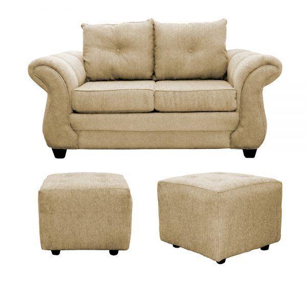Living Bertolucci Sofa 2 Cuerpos 2 Pouf Beige 1