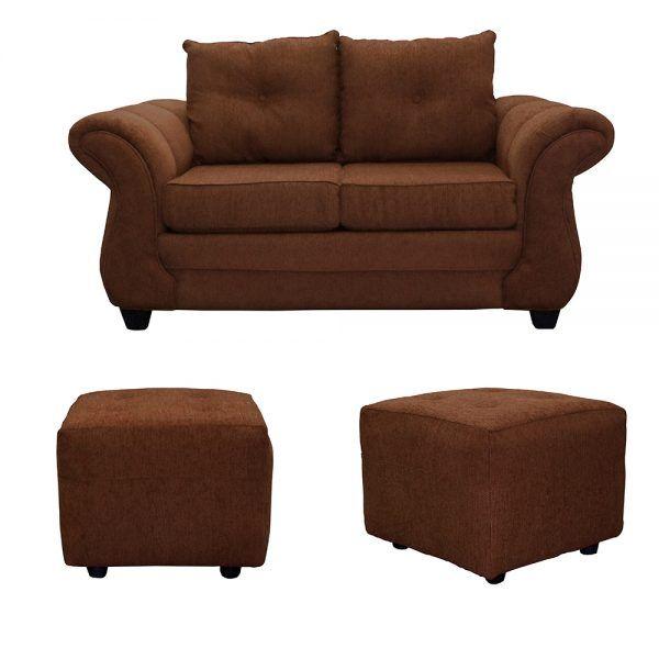 Living Bertolucci Sofa 2 Cuerpos 2 Pouf Cafe 1