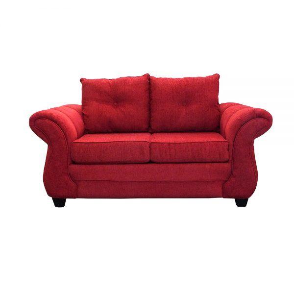 Living Bertolucci Sofa 2 Cuerpos 2 Pouf Rojo 2