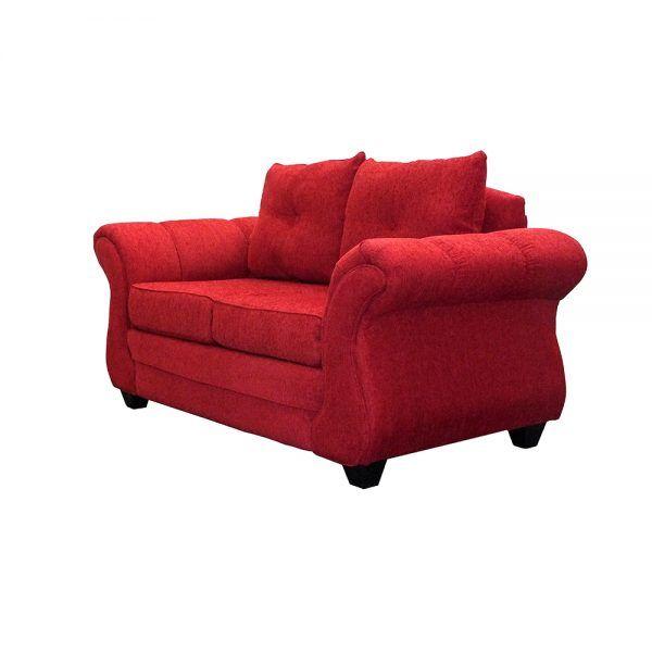Living Bertolucci Sofa 2 Cuerpos 2 Pouf Rojo 3
