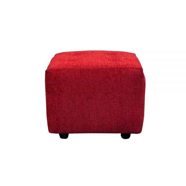 Living Bertolucci Sofa 2 Cuerpos 2 Pouf Rojo 5