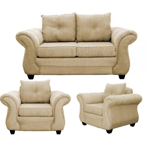 Living Bertolucci Sofa 2 Cuerpos 2 Sillones Beige 1