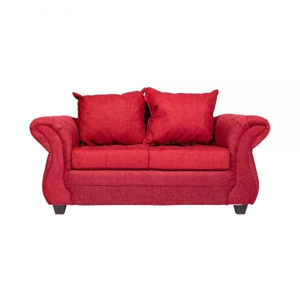 Living Bertolucci Sofa 2 Cuerpos 2 Sillones Rojo 2