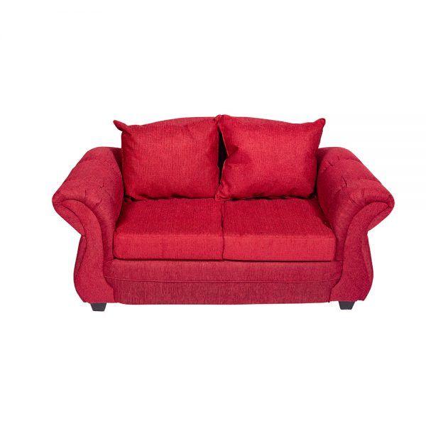 Living Bertolucci Sofa 2 Cuerpos 2 Sillones Rojo 3