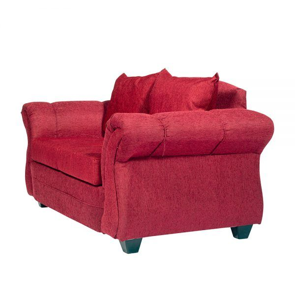 Living Bertolucci Sofa 2 Cuerpos 2 Sillones Rojo 4