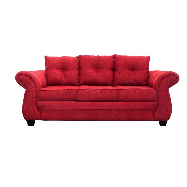 Living Bertolucci Sofa 3 Cuerpos 2 Butacas Rojo 2