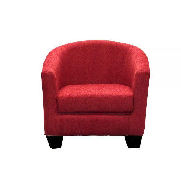 Living Bertolucci Sofa 3 Cuerpos 2 Butacas Rojo 3