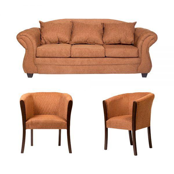 Living Bertolucci Sofa 3 Cuerpos 2 Poltronas Cafe 1