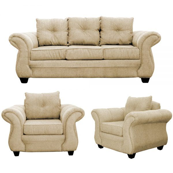 Living Bertolucci Sofa 3 Cuerpos 2 Sillones Beige 1