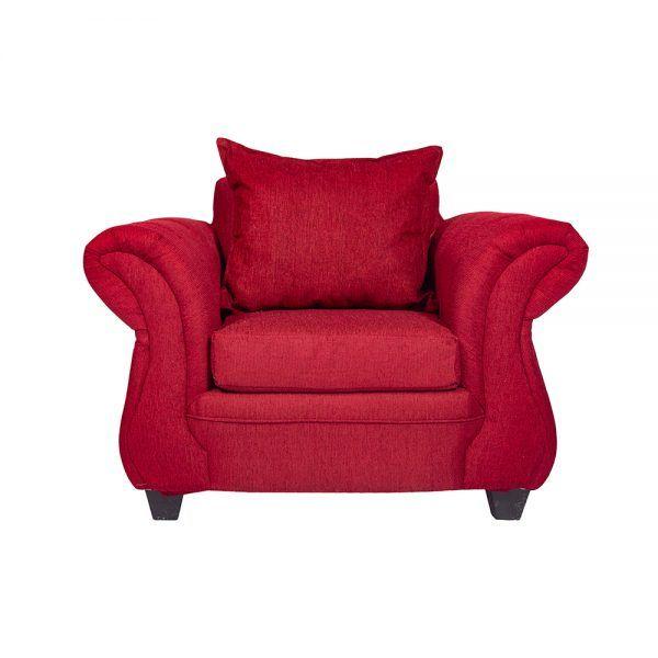 Living Bertolucci Sofa 3 Cuerpos 2 Sillones Rojo 5