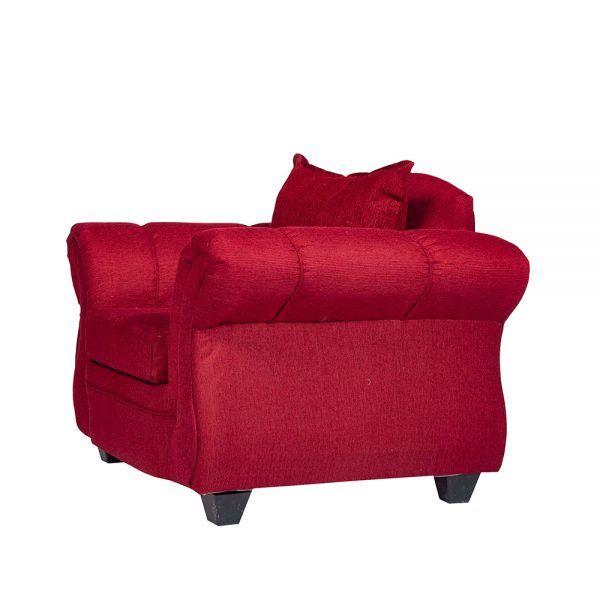 Living Bertolucci Sofa 3 Cuerpos 2 Sillones Rojo 7