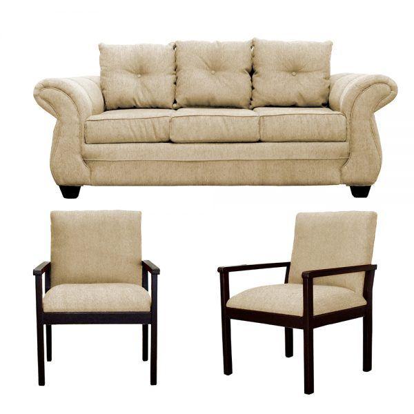Living Bertolucci Sofa 3 Cuerpos 2 Sitiales Beige 1