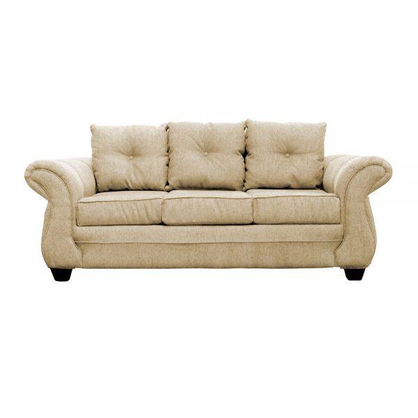 Living Bertolucci Sofa 3 Cuerpos 2 Sitiales Beige 2