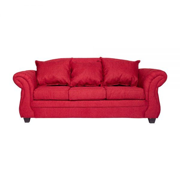 Living Bertolucci Sofa 3 Cuerpos 2 Sitiales Rojo 2