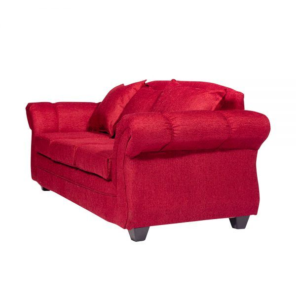Living Bertolucci Sofa 3 Cuerpos 2 Sitiales Rojo 4