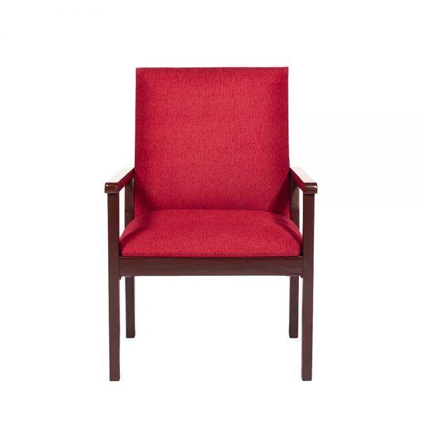 Living Bertolucci Sofa 3 Cuerpos 2 Sitiales Rojo 5
