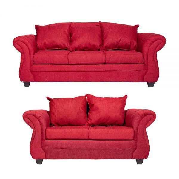 Living Bertolucci Sofa 3 Cuerpos Sofa 2 Cuerpos Rojo 1