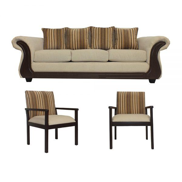 Living Candy Sofa 3 Cuerpos 2 Sitiales Beige 1
