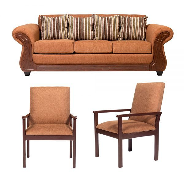 Living Candy Sofa 3 Cuerpos 2 Sitiales Cafe 1