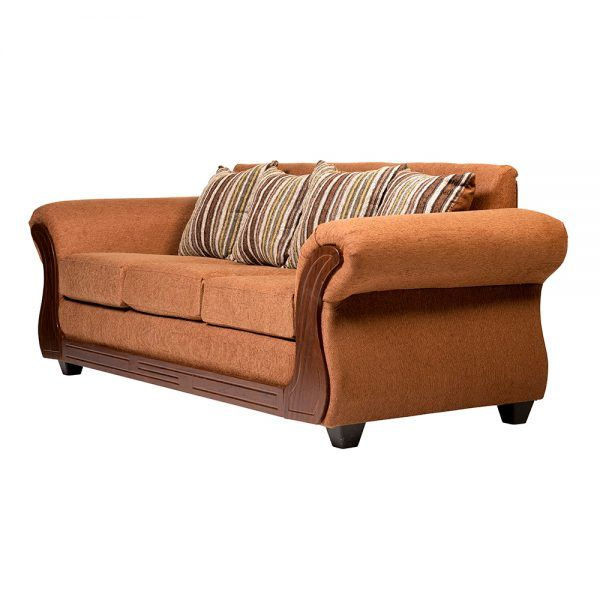 Living Candy Sofa 3 Cuerpos 2 Sitiales Cafe 4