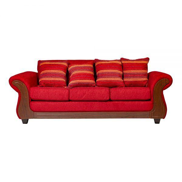 Living Candy Sofa 3 Cuerpos 2 Sitiales Rojo 2