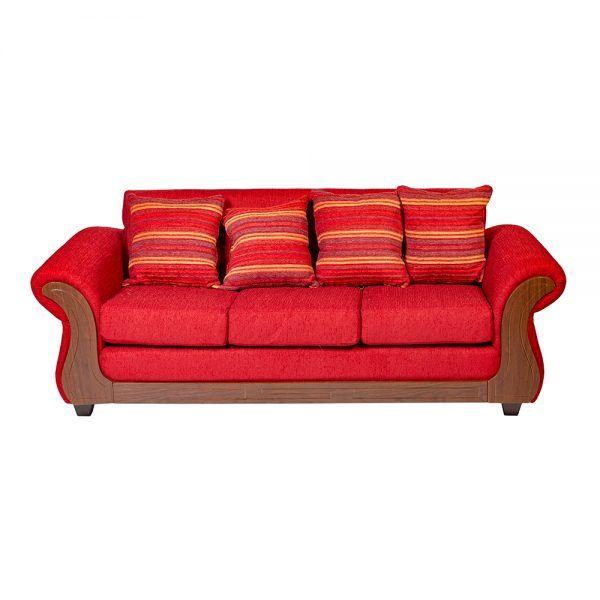 Living Candy Sofa 3 Cuerpos 2 Sitiales Rojo 3