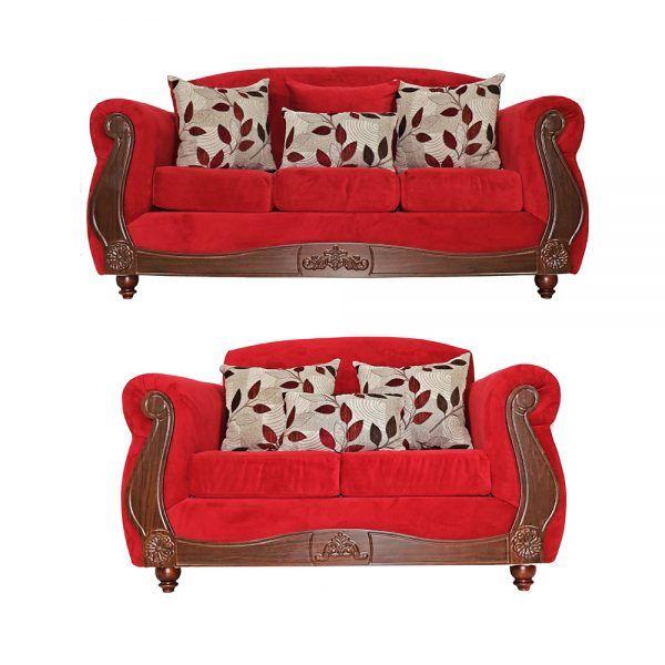 Living Ciudatella Sofa 3 Cuerpos Sofa 2 Cuerpos Rojo 1