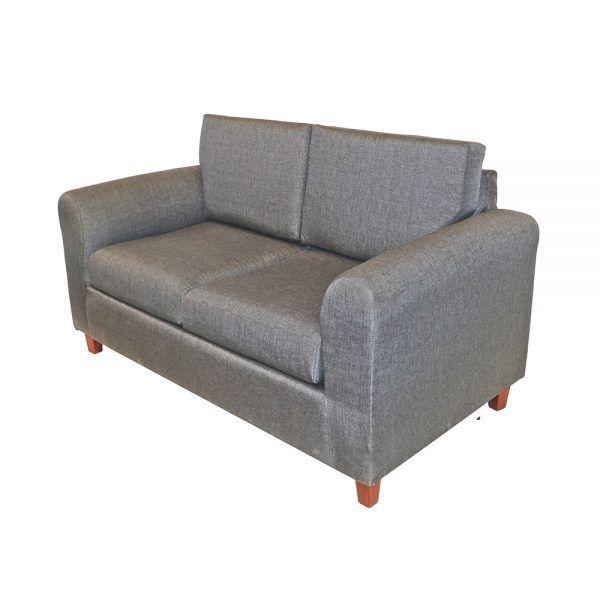 Living Delfos Sofa 2 Cuerpos 2 Sitiales Gris 4