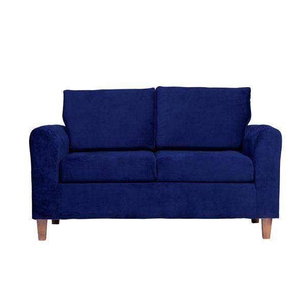 Living Delfos Sofa 2 Cuerpos Sillones Azul 2