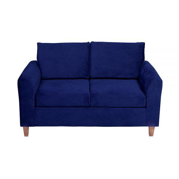 Living Delfos Sofa 2 Cuerpos Sillones Azul 3