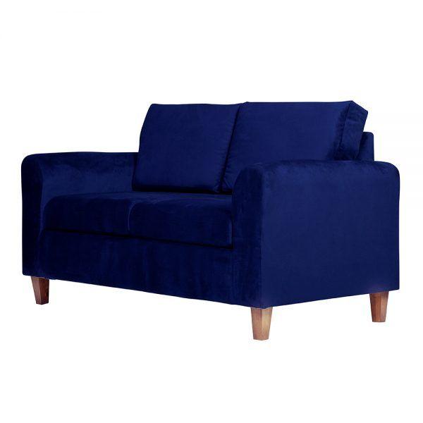Living Delfos Sofa 2 Cuerpos Sillones Azul 4